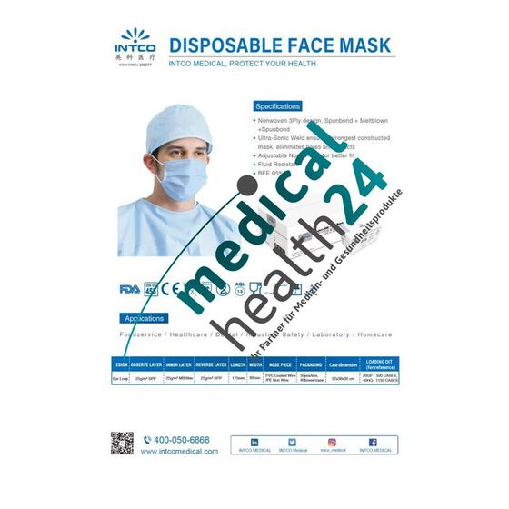 Atemschutzmasken  /  Mundschutzmasken Disposable Face Mask